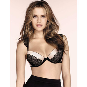 W02AU Wonderbra Glam Cleavage Bra Light Pink W02AU Plunge Bra