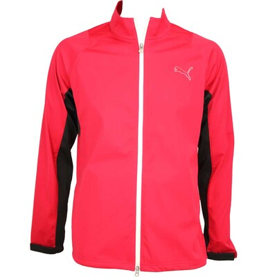 Puma Rain Waterproof Golf Jacket Tango Red AW15