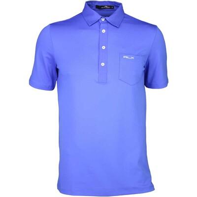 RLX Golf Shirt Woven Tech Pique Diplomat Blue SS16