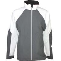 Galvin Green Waterproof Golf Jacket - AMOS White - Iron Grey