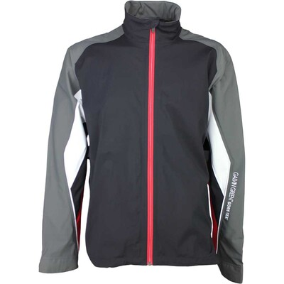 Galvin Green Waterproof Golf Jacket - ASTON Black - Red