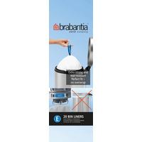 Brabantia 20 Litre Bin Liners - Size E (20 Bags)