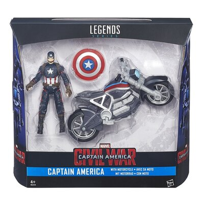 Marvel Legends Series Captain America Figure And Motorcycle