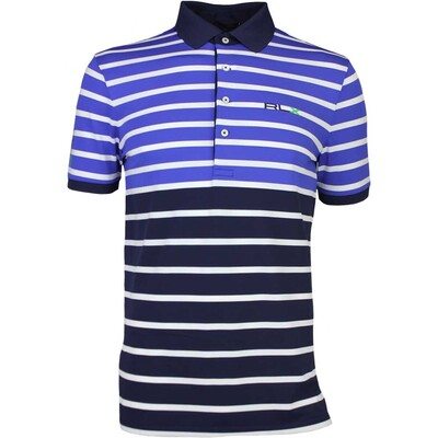 RLX Golf Shirt - Stripe Tech Pique - New Periwinkle AW16