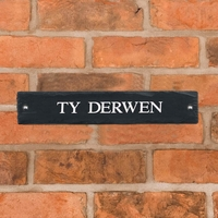 Rustic Slate House Sign - 1 line 45.5 x 10cm