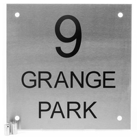 Stainless Steel Square House Sign 28 x 28cm