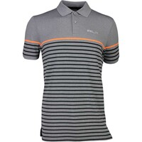 RLX Golf Shirt - Striped Pique - Classic Grey Heather SS17