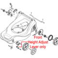 Click to view product details and reviews for Mountfield Front Height Adjust Lever 381003352 0.