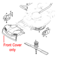 Click to view product details and reviews for Mountfield Front Cover Grey Plastic 322226098 1.