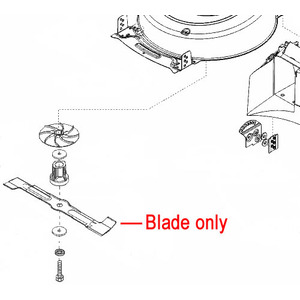 Al Ko Moweo 425 Li Lawnmower Blade 441506