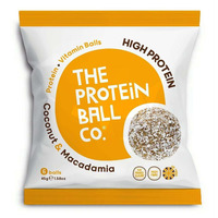 The Protein Ball Company Coconut & Macadamia Protein Balls 45g - Pack of 10