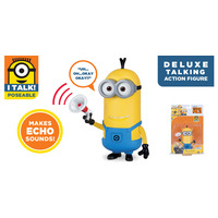 Despicable Me 3: Deluxe Talking Minion Action Figure - Tim with Megaphone