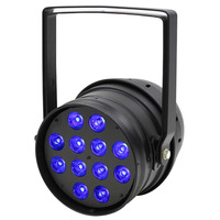 LED Parcan RGBW Stage Light  - 12 x 8 Watts Black Housing