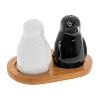 Joe Davies White Bamboo Penguin Cruet Set