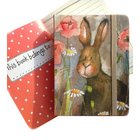 Alex Clarks Hare and Poppies Small Chunky Notebook