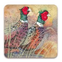 Alex Clarks Pleasant Pheasants Coaster