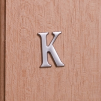 Self Adhesive 40mm Aluminium Letter K