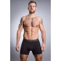 British Boxers Coal Black Stretch Trunk