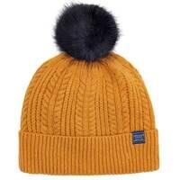 Joules Bobble Beanie Hat, Caramel