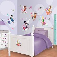 Disney Fairies Wall Sticker Kit with Height Chart