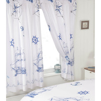 Ships and Anchors, Nautical Curtains 72s