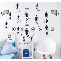 Football Wall Stickers - Pack of 40