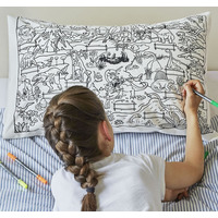 Doodle Dinosaur Pillowcase - 100% Cotton
