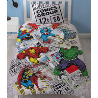 Marvel Avengers Single Bedding - Retro