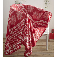 Alpine Fleece Throw - Red