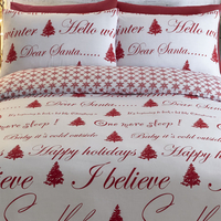 Its Christmas King Size Bedding - Red