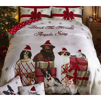Catherine Lansfield Christmas Party Animal Double Duvet Set