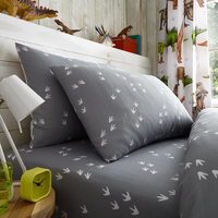 Roaring Dinosaur Single Fitted Sheet and Pillowcase