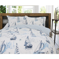Sailing Boat Super King Size Bedding - 100% Cotton