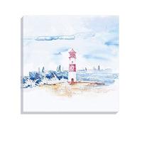 Lighthouse Beach Canvas Art, 40 x 40 cm