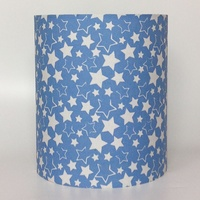 Blue and White Stars, Medium Light Shade