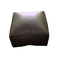 Black, Faux Leather Bean Slab / Cube