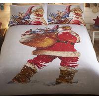 Vintage Santa Single Bedding