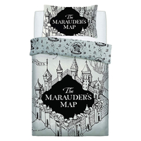 Harry Potter Single Bedding - Marauders Map