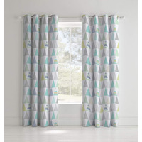 Catherine Lansfield Scandi Geo Easy Care Eyelet Curtains 66 x 72