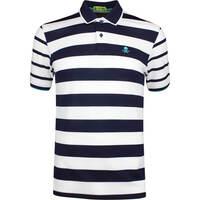 G/FORE Golf Shirt - Skull Stripe Polo - Twilight SS19