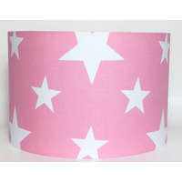 White Star, Pink Large Fabric Light Shade