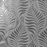 Foil Leaf Wallpaper - Silver