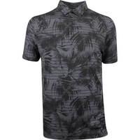TravisMathew Golf Shirt - Plus One Polo - Black Floral SS19