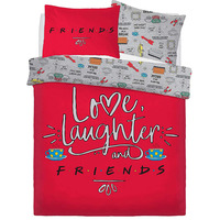 Friends Love Laughter Single Duvet
