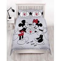 Mickey and Minnie Mouse Double Duvet - Love