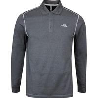 adidas Golf Shirt - LS Thermal Polo - Black Heather AW19