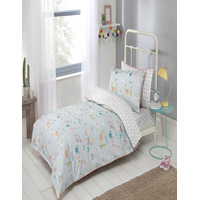Llama Parade, Pure Cotton Anti-Bacterial 3 Piece Bedding Set. Includes Fitted Sh