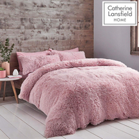 Catherine Lansfield Cuddly Single Duvet - Blush Pink
