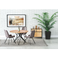 Precia Round Oak Dining Table 120cm