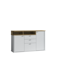 Kyron 150cm White And Artisan Oak Effect Sideboard